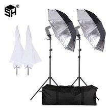 SH Flash ShoeMount Girevole Ombrello Morbido Kit per la fotografia con la Luce Del Basamento e del Supporto di Tipo B