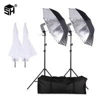 SH Flash ShoeMount obrotowe miękki parasol zestaw do fotografii z podstawką i uchwyt typu B w Akcesoria do studia fotograficznego od Elektronika użytkowa na