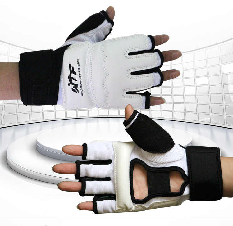 Yetişkin çocuk eldiven korumak Taekwondo ayak koruyucu ayak bileği desteği söndürme ayak koruma kickboks çizme WTF onaylı palmiye koruyun
