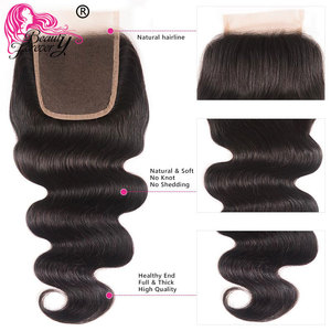 Image 4 - Beauty Forever Body Wave Brazilian Hair Weave 3 Bundles With Closure Free Part 100% Remy Human Hair