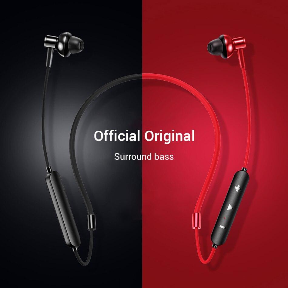 Bluetooth 4.2 fone de ouvido sem fio magnético neckband fones handsfree esporte estéreo para huawei samsung xiaomi com microfone