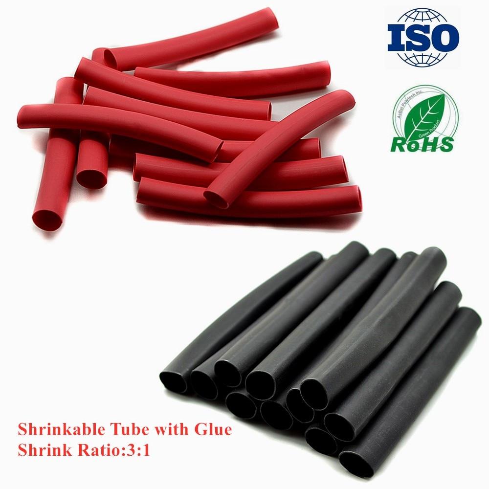 "16 12/"" Black Heat Shrink Tubing 3//16 Flexible Adhesive Glue Line Wire Wrap 3:1"