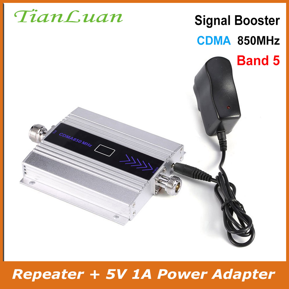 TianLuan Band 5 Mobile Phone CDMA Signal Repeater 850 MHz Signal Booster 2G 3G 4G LTE 850MHz Cell Phone Signal Amplifier