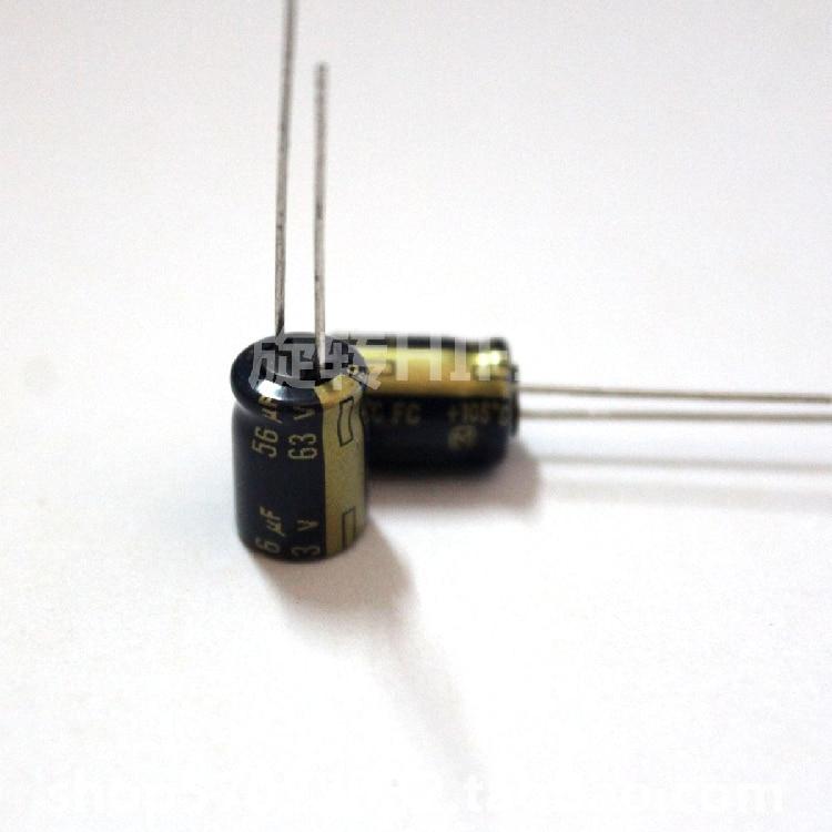 20pcs New Matsushita 63V56UF FC 8X11.5MM 56UF 63V Audio Electrolytic Capacitor 56uF/63V 105 Degrees Fc 63V 56UF