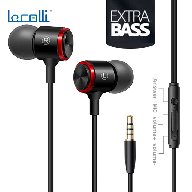 Professional Sports Headphones Super Bass Headphones Control Microphone Stereo Earbuds In Ear Sports Headphones 3.5mm