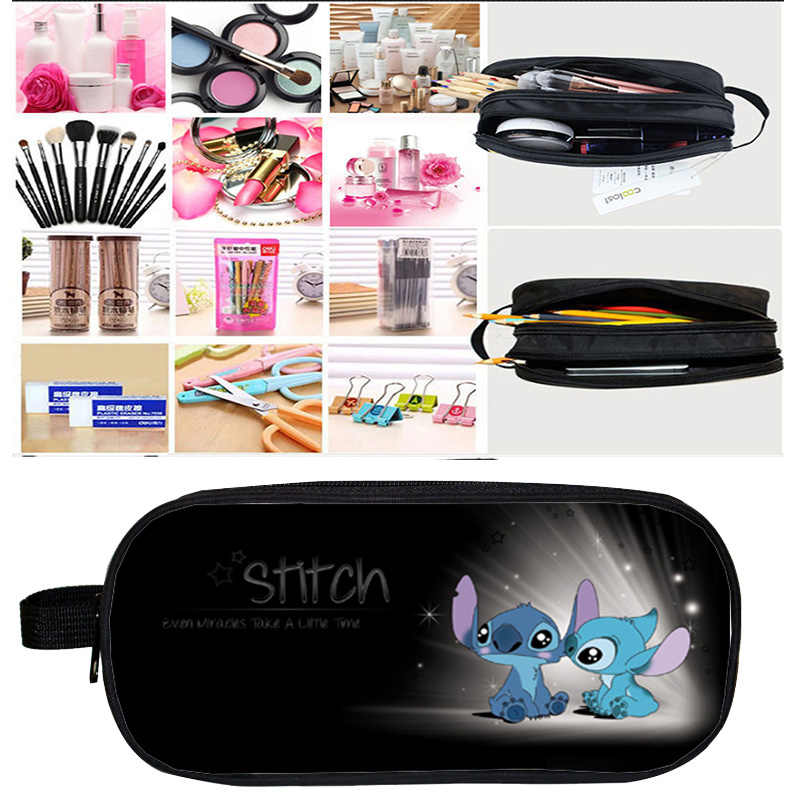 Kosmetik Tasche Fall Mochila Stich Bleistift Fall Make-Up Box Anime 3D Drucken Doppel-reißverschluss Kpop für Kinder Geschenk Schule Liefert beutel