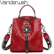 Рюкзак для девочек подростков, школьная сумка с шипами и кисточками, женский кожаный рюкзак, маленький дорожный рюкзак, сумка на плечо, Mochila