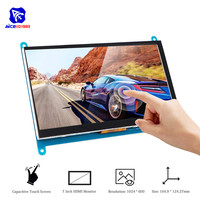 diymore 7 Inch Capacitive Touch Screen IPS TFT LCD Display HDMI Monitor Module 1024x600 for Raspberry Pi 3 / 2 / Model B+