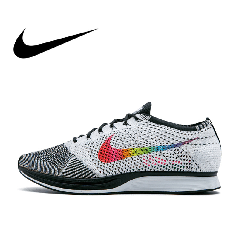 Original Authentic Nike Flyknit Racer Racer Be True Mens Running Shoes Sport Outdoor Breathable Sneakers 2018 New Arrival 902366