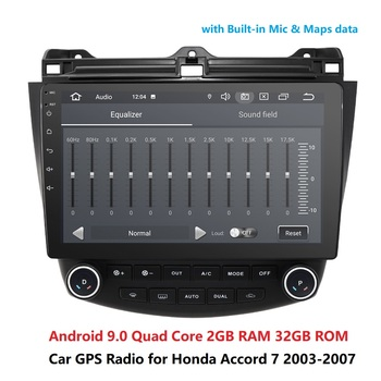 DSP 10.1 inch Android 9.0 RAM 2GB ROM 32GB 2din car Radio Player GPS Navigation For 2003 2004 2005 2006 2007 Honda Accord 7