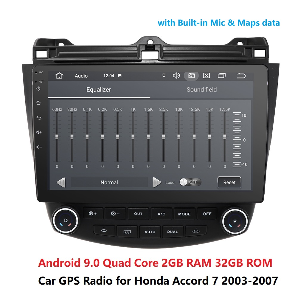 DSP 10.1 inch <font><b>Android</b></font> 9.0 RAM 2GB ROM 32GB 2din car <font><b>Radio</b></font> Player GPS Navigation For 2003 <font><b>2004</b></font> 2005 2006 2007 <font><b>Honda</b></font> <font><b>Accord</b></font> 7 image