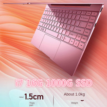 14 Inch Pink Laptop Cute Notebook Computer Girls Core I7 or Celeron 3867U Ultra-