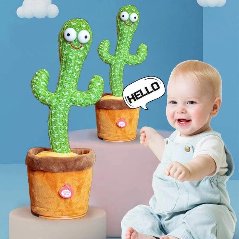 Электронный встряхнуть плюшевые Танцы игрушка-кактус для танцев с светильник повторить свои слова Bluetooth Динамик детская развивающая игруш...