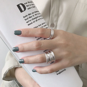 Image 5 - SSTEEL 925 Sterling Silver Rings For Women Lrregular Open Ring Anelli Argento Donna Bijoux Argent Massif Pour Femme Jewelry