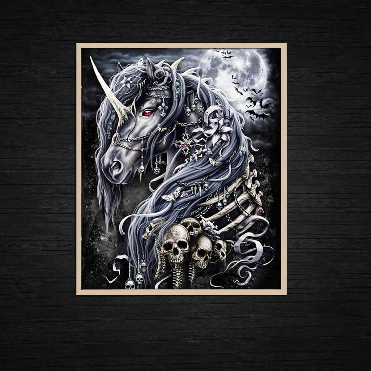 Modern Oil Paintings Wall Art Moon Unicorn And Skeleton Horse Home Decoration Home Decor Canvas Painting Poster Boy S Room Painting Calligraphy Aliexpress