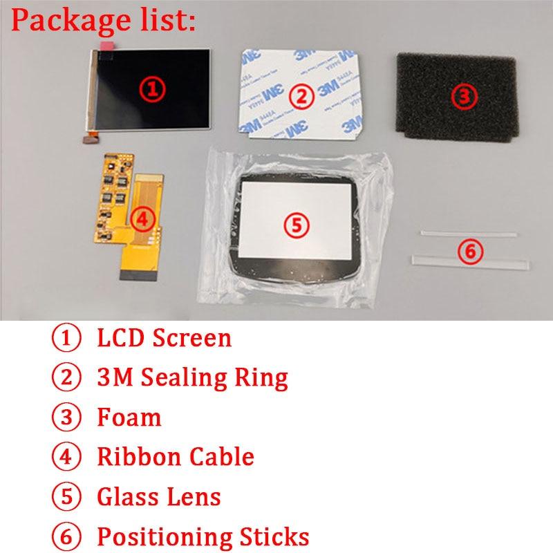 Kits de reemplazo de pantalla LCD V2 para retroiluminación Nintend GBA pantalla lcd de 10 niveles de alto brillo pantalla IPS LCD V2 para consola GBA - 5