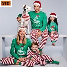 2020 семейный Рождественский пижамный комплект семейная сочетающаяся