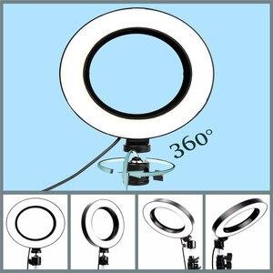 """Image 5 - 10.2 """"Led Ring Licht Fotografische Selfie Ring Verlichting Met 50 70 160 125Cm Statief Stand Voor Youtube Live video Studio Tik Tok"""