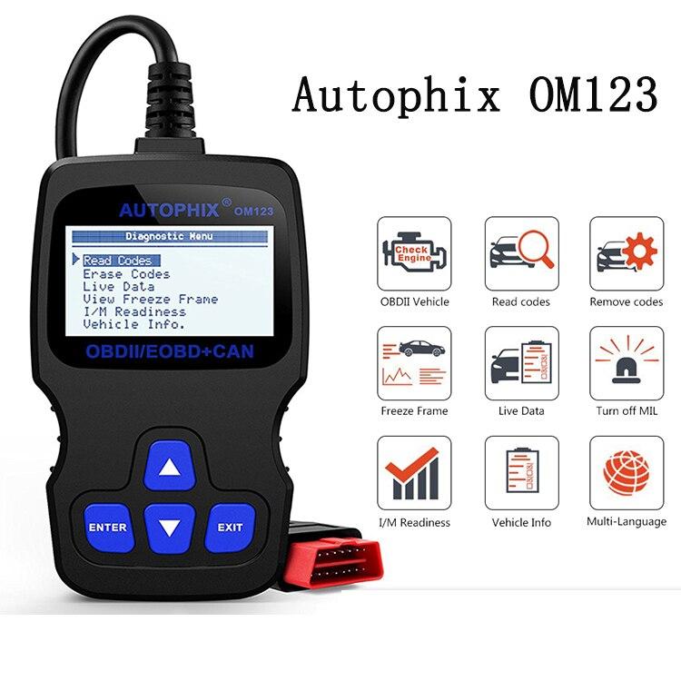 OM123 OBD2 Scanner Car Diagnostic Tool OBD 2 Automotive Scanner ODB Code Reader
