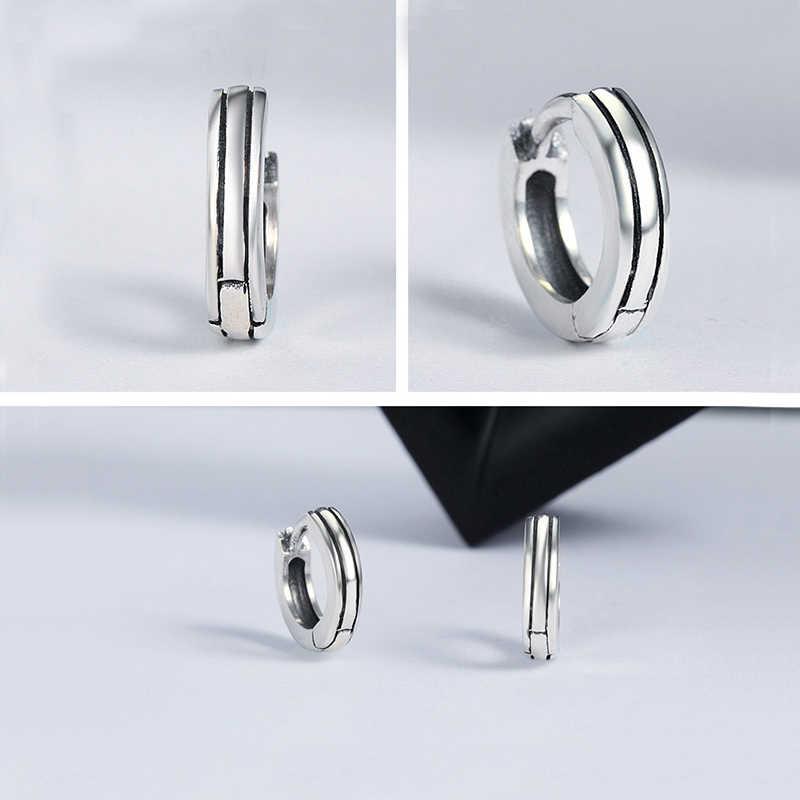 BISAER Dell'argento Sterlina 925 Zircone Cubico Rotondi del Cerchio Delle Donne di Cristallo Coreano Orecchini A Cerchio per Le Donne di Modo Delle Donne Degli Orecchini brincos