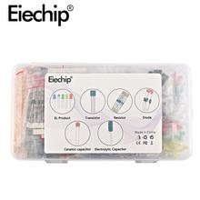 Kit di componenti elettronici led diodi Resistenza set Elettrolitico Condensatore di Ceramica transistor Pacchetto fai da te per arduino starter kit