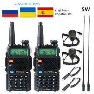 1pcs/2pcs Baofeng UV-5R Walkie Talkie VHF UHF upgrade version Radio Station 5W Portable baofeng uv5r Two Way Radio cb radio
