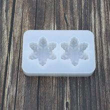 Crystal Drop Glue Mould 2 Even Snowflake Mold Mirror Hand-Made Resin Mold Gypsum Pendant(China)