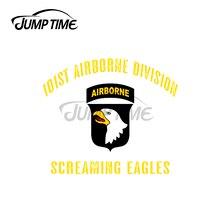 Jump Zeit 13x11cm Für 101st Airborne Division Aufkleber Windschutzscheibe Windows Auto Aufkleber Motorrad Anime Wasserdichte Auto Assessoires