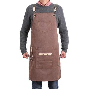 Image 1 - Deetrust Bbq Canvas Schort Bib Chef Keuken Schort Voor Vrouwen Mannen Barista Barman Zakken Home Kapper Cook Koffie Restaurant