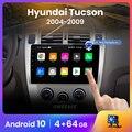 Автомагнитола AWESAFE PX9 для Hyundai Tucson 2004-2010, мультимедийный видеоплеер с GPS-навигацией, 2 din, DVD, Android 10