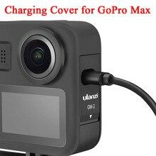 Şarj koruyucu kapak Gopro Max değiştirilebilir pil ile kapı tipi C şarj portu GoPro Max kamera aksesuarları seti