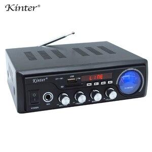 Image 4 - Kinter M1 amplificador de Audio 2.0CH con USB SD FM MIC 3,5mm entrada puede reproducir MP3 MP4 MP5 fuente de alimentación 220 240V carcasa de metal