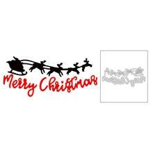 2020 новые английские слова Счастливого Рождества и сани Лось