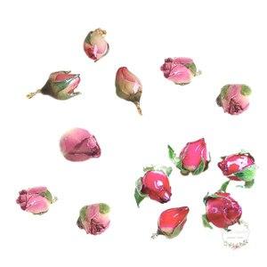 8 шт., подвески с натуральным цветком, подвески в форме бутона розы, покрытые жидкостью из смолы, для изготовления ювелирных украшений