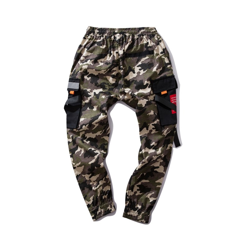 RLJT.JIN 2019 New Fashion Big Pocket Cargo Joggers Mens Pants Camouflage Streetwear Men Trousers Pantalones Hip hop Loose