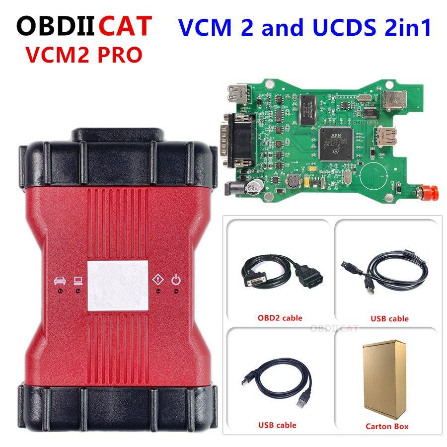 האיכות הטובה ביותר מלא שבב VCM 2 פרו VCM2 רב שפה OBD2 אבחון כלי