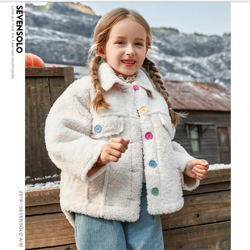 Winter Girls Jacket Fur Leather Toddler Teenage Girls Outerwear Thick Kids Coats And Jackets Girl Children Outerwear Clothes