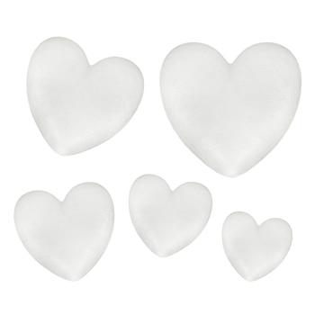 New Heart Shaped Polystyrene Foam White Heart Shaped Polystyrene Foam For DIY Craft  Flower Wedding Party Decor