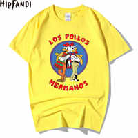 HIPFANDI Men's Fashion Breaking Bad Shirt 2019 LOS POLLOS Hermanos T-shirt Chicken Brothers Short Sleeve Hipster Hot Sale Tops