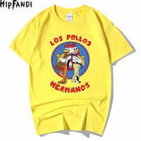 HIPFANDI de la moda de LOS hombres de romper camiseta Bad 2019 LOS POLLOS camiseta hermanos LOS POLLOS hermanos manga corta Hipster gran oferta Tops
