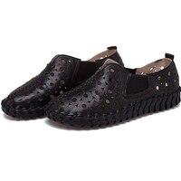Nuevo Suave Fondo mujer pisos de cuero genuino zapatos cómodos Oxford zapatos para mujer Zapatos Mujer mocasines