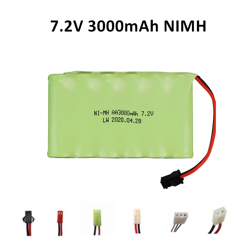 7.2V 3000mah 2800mah rechargeable NI-MH AA <font><b>battery</b></font> for Remote control electric toy boat car truck <font><b>7.2</b></font> <font><b>V</b></font> 2400 mah aa <font><b>nimh</b></font> <font><b>battery</b></font> image