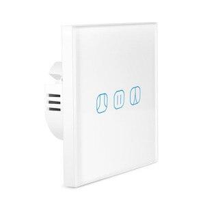 ЕС Wifi умный Занавес Жалюзи переключатель для рольставни Электрический трубчатый двигатель работа с Google Home Alexa Echo умный дом