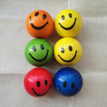 Sports-Toys Balls Anti-Stress Ourdoor Squeeze Coloful Soft Kids Children PU Smiley Face
