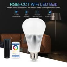 Milight YB1 9W RGB+CCT Wifi Led Bulb 2.4G Wireless Led Lamp 2700K-6500K Dimmable 2 in 1 Smart Mi-Light Led Light AC100-240V