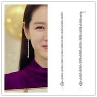 Atterrissage forcé de l'amour Hyun Bin Son Ye Jin oreille drames coréens personnalité TV pour les femmes boucles d'oreilles pendientes brincos ornement