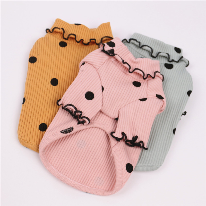 Pets Products Dogs Clothes Supplies Cute Spots Puppy Shirts