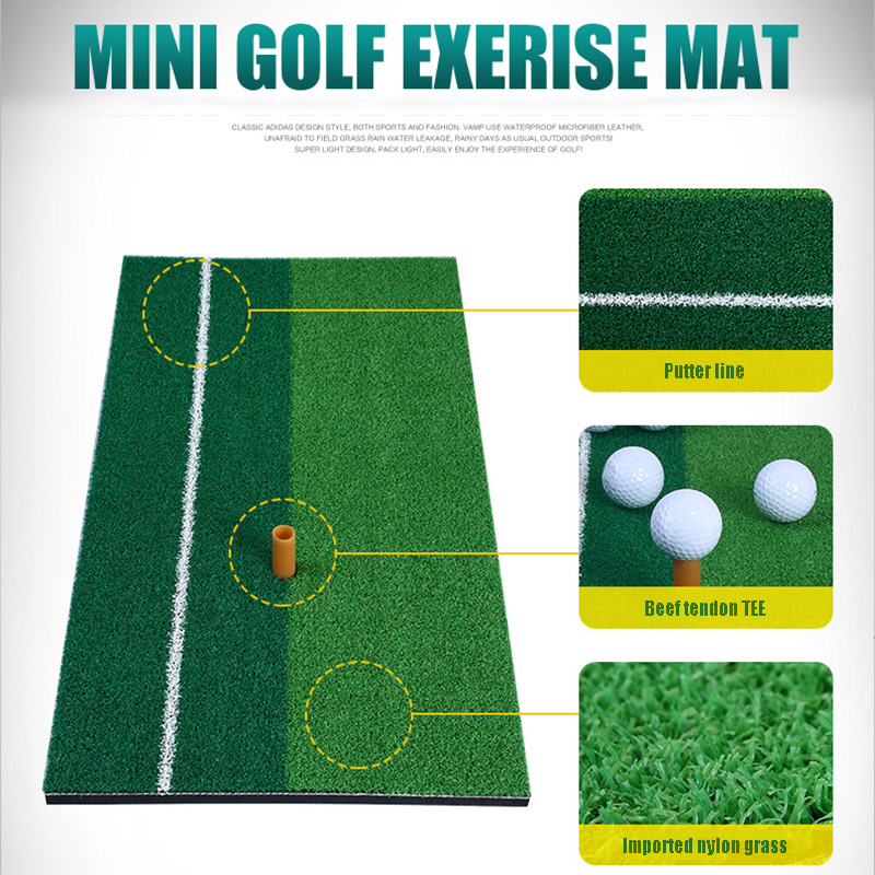 Golf Practice Mat Swing Hitting Mat Driving Pad Indoor Training Aids Green &T8