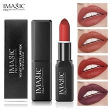 16 Colors Matte Lipstick Waterproof Long Lasting Nude Red Beauty Lips Batom Makeup Lip Stick Pigment Imagic Brand