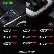 2pcs Stainless Steel GT Car Sticker For Peugeot 206 208 307 308 2008 3008 106 108 306 206 208